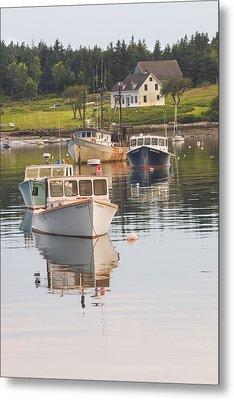 Port Clyde Maine Boats And Harbor Metal Print