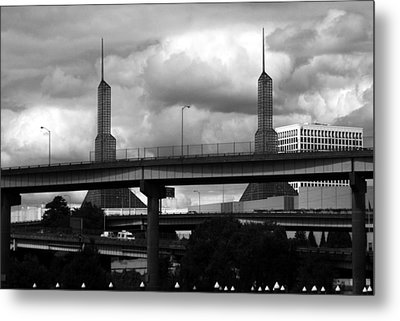 Portland Bridge Metal Print