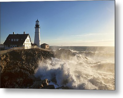 Portland Head Light Metal Print by Eric Gendron
