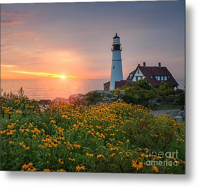 Portland Head Light Sunrise  Metal Print