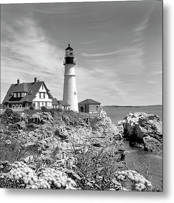 Portland Head Lighthouse Metal Print by Mike McGlothlen