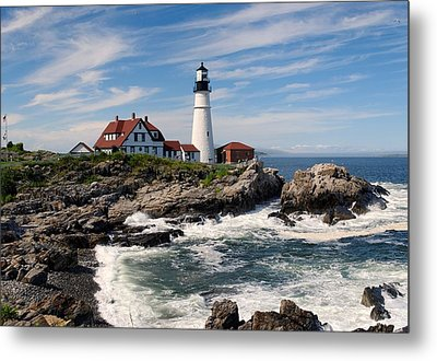 Portland Head Lighthouse Metal Print by Georgia Fowler