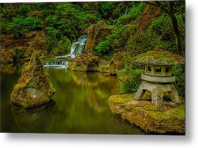 Metal Print featuring the photograph Portland Japanese Gardens by Jacqui Boonstra