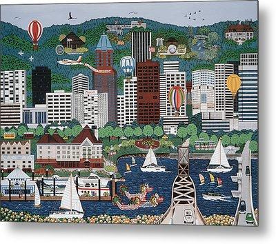 Portland Waterfront Metal Print