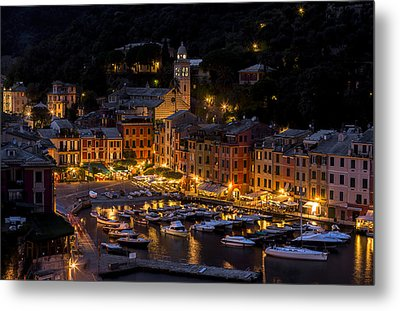 Portofino Italy - Hi Res Metal Print by Carl Amoth