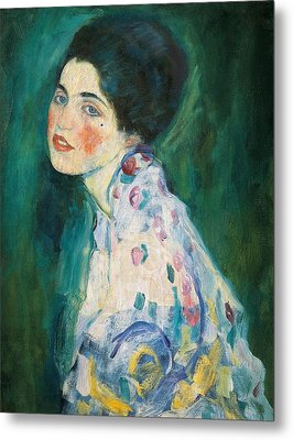 Portrait Of A Young Woman Metal Print by Gustav Klimt