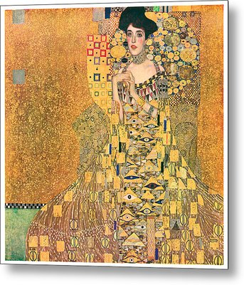 Portrait Of Adele Bloch-bauer I Metal Print by Gustav Klimt
