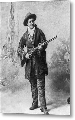 Portrait Of Calamity Jane Metal Print by Underwood Archives