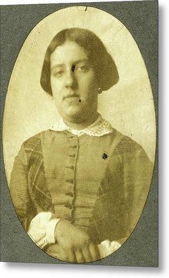 Portrait Of Charlotte Asser, Eduard Isaac Asser Metal Print