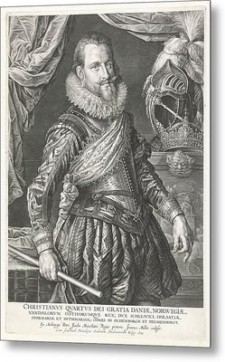 Portrait Of King Christian Iv Of Denmark And Norway Metal Print