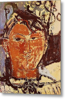 Portrait Of Picasso Metal Print by Pg Reproductions