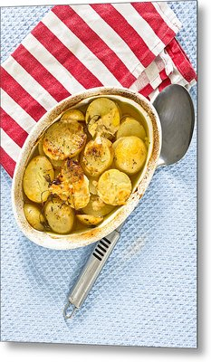 Potato Dish Metal Print by Tom Gowanlock
