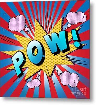 pow Metal Print by Mark Ashkenazi