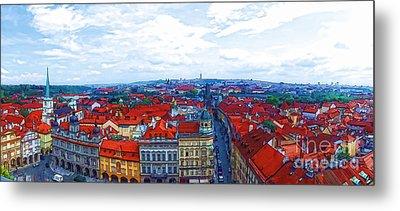 Prague - Panorame Metal Print
