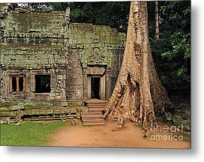 Preah Khantemple At Angkor Wat Metal Print by Sami Sarkis
