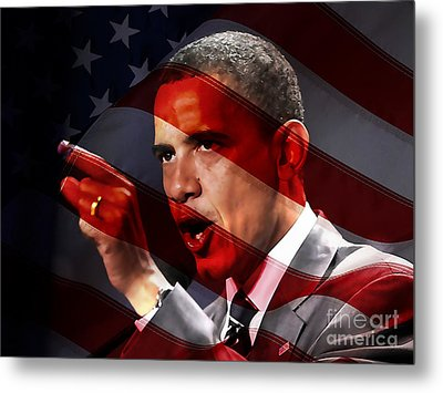 President Barack Obama Metal Print by Marvin Blaine