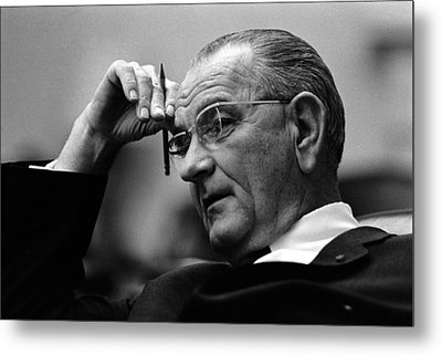 President Lyndon Johnson Metal Print by War Is Hell Store