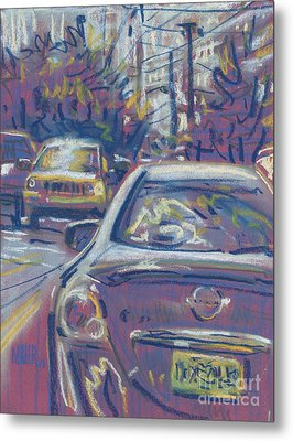 Metal Print featuring the painting Primary Parking by Donald Maier