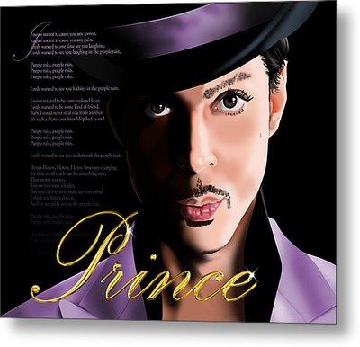 Prince Metal Print by Timothy Ramos