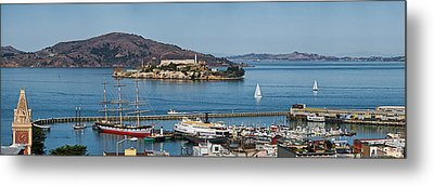 Prison On An Island, Alcatraz Island Metal Print by Panoramic Images
