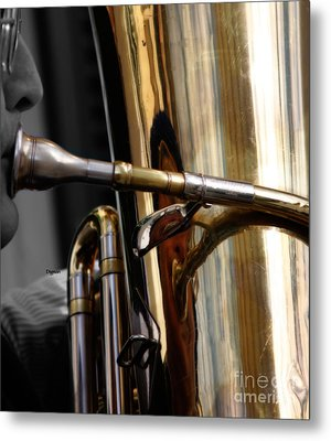Profile In Tuba Metal Print by Steven Digman