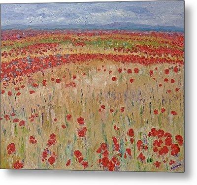 Provence Poppies Metal Print by Barbara Anna Knauf