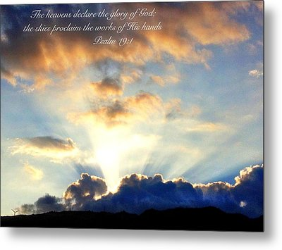 Psalm 19 1 Metal Print