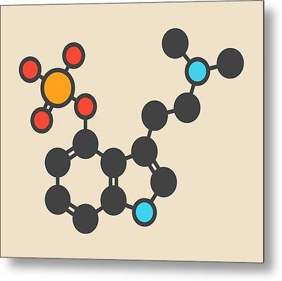 Psilocybin Psychedelic Mushroom Molecule Metal Print