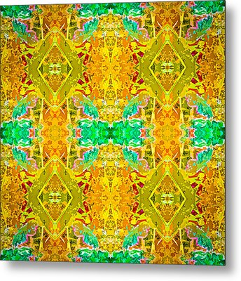 Metal Print featuring the photograph Psychedelic Diamond by  Onyonet  Photo Studios