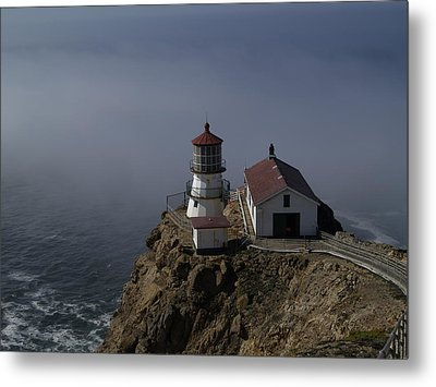 Pt Reyes Lighthouse Metal Print by Bill Gallagher