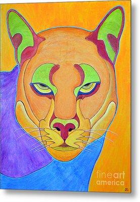 Metal Print featuring the painting Puma 1 by Joseph J Stevens