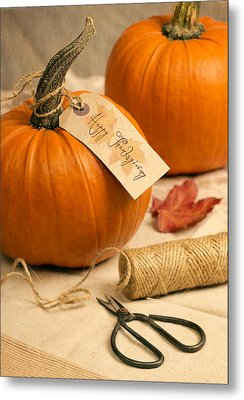 Pumpkins For Thanksgiving Metal Print by Amanda Elwell