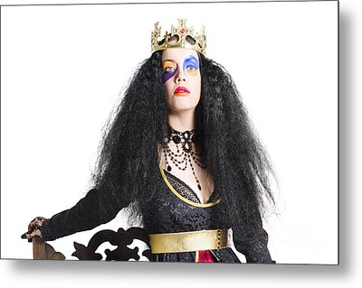 Queen In Black Clothes Metal Print