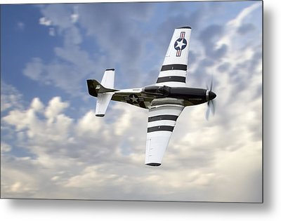 Quick Silver P-51 Metal Print by Peter Chilelli