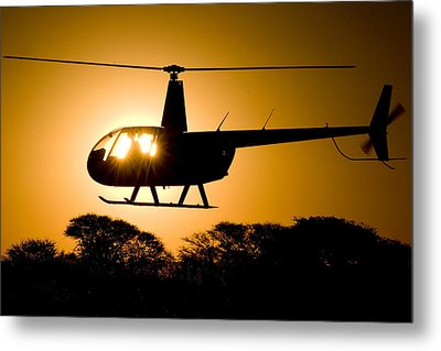 Metal Print featuring the photograph R44 Sunset by Paul Job