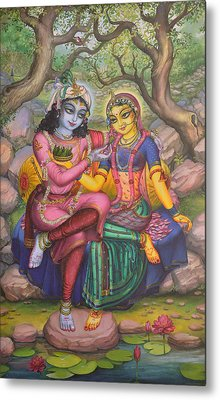 Radha And Krishna Metal Print
