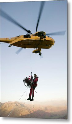 Raf Sea King Helicopter Metal Print by Ashley Cooper