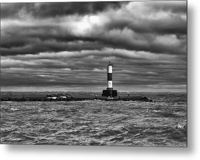 Metal Print featuring the photograph Raging Lake Michigan by Ricky L Jones
