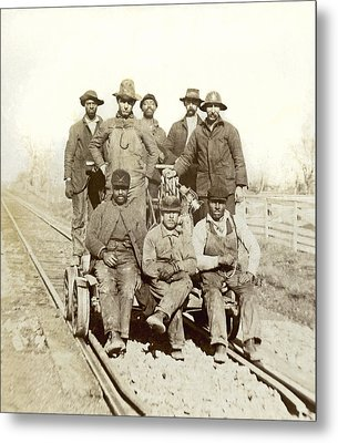 Railroad Workers Metal Print by Underwood Archives