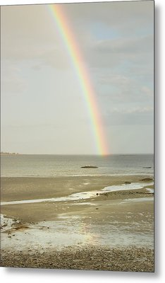 Rainbow Over The Coast Of Maine Metal Print by Keith Webber Jr