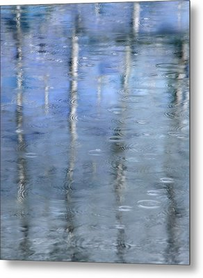 Raindrops On Reflections Metal Print by KM Corcoran