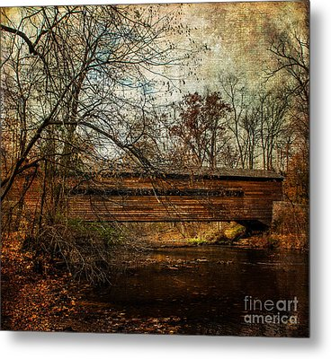 Rapps Dam Covered Bridge Metal Print