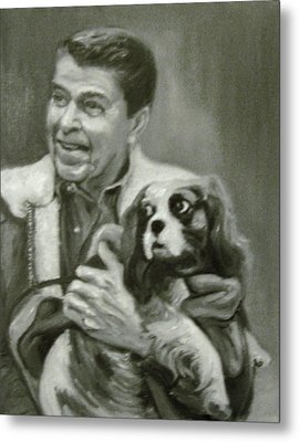 Reagan And Rex Metal Print