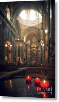 Red Candles Metal Print