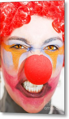 Red Clown Rage Metal Print by Jorgo Photography - Wall Art Gallery