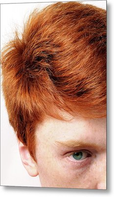 Red-haired Teenage Boy Metal Print by Cordelia Molloy