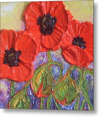 Red Poppies Metal Print by Paris Wyatt Llanso