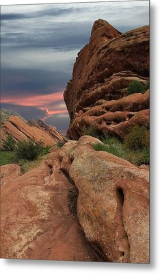 Red Rocks Colorado Sunset  Metal Print