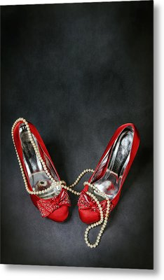 Red Shoes Metal Print by Joana Kruse