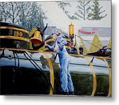 Reflecting On Tweetsie Metal Print by Stacy C Bottoms